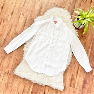 Tommy Bahama Relax Linen Button Up Shirt in White